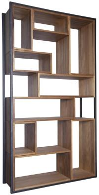 Wood and Metal Bookcase: A Book Storage for Ultra Rustic ...