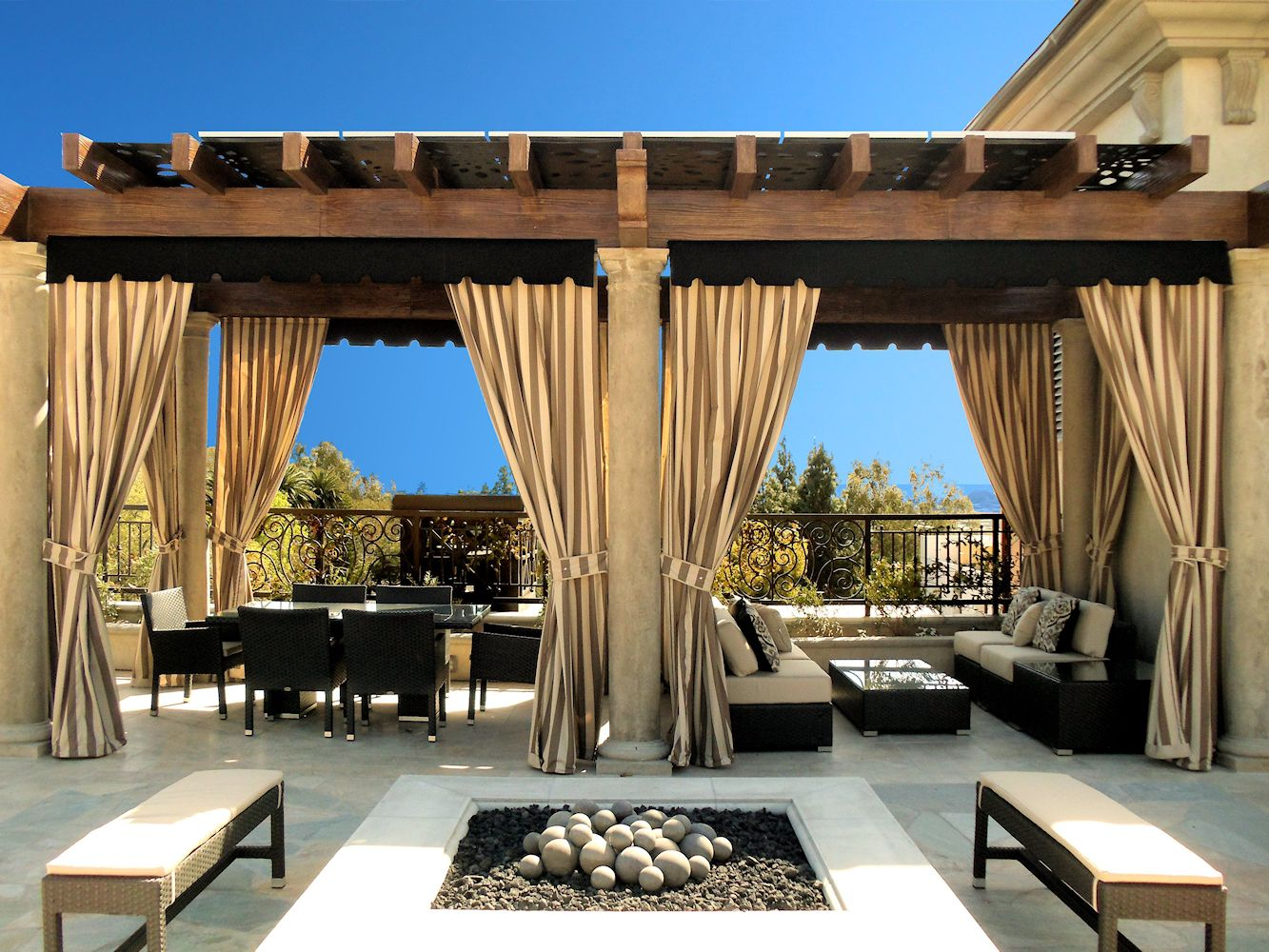 Outdoor curtain rods - Outdoor Curtain Panels Inspiration Homesfeed