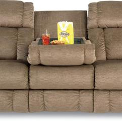 Double Reclining Sofa With Fold Down Table Flexsteel Rv Covers Couch: Relax In Living Room | Homesfeed