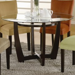 Glass And Wood Dining Table Chairs Wheelchair Tyres Bases For Tops Homesfeed