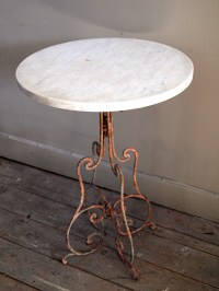Marble Top Bistro Table for Home or Cafe | HomesFeed
