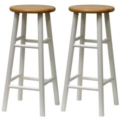 Wooden Bar Stool Chairs Padded Metal Folding White Wood Stools Homesfeed