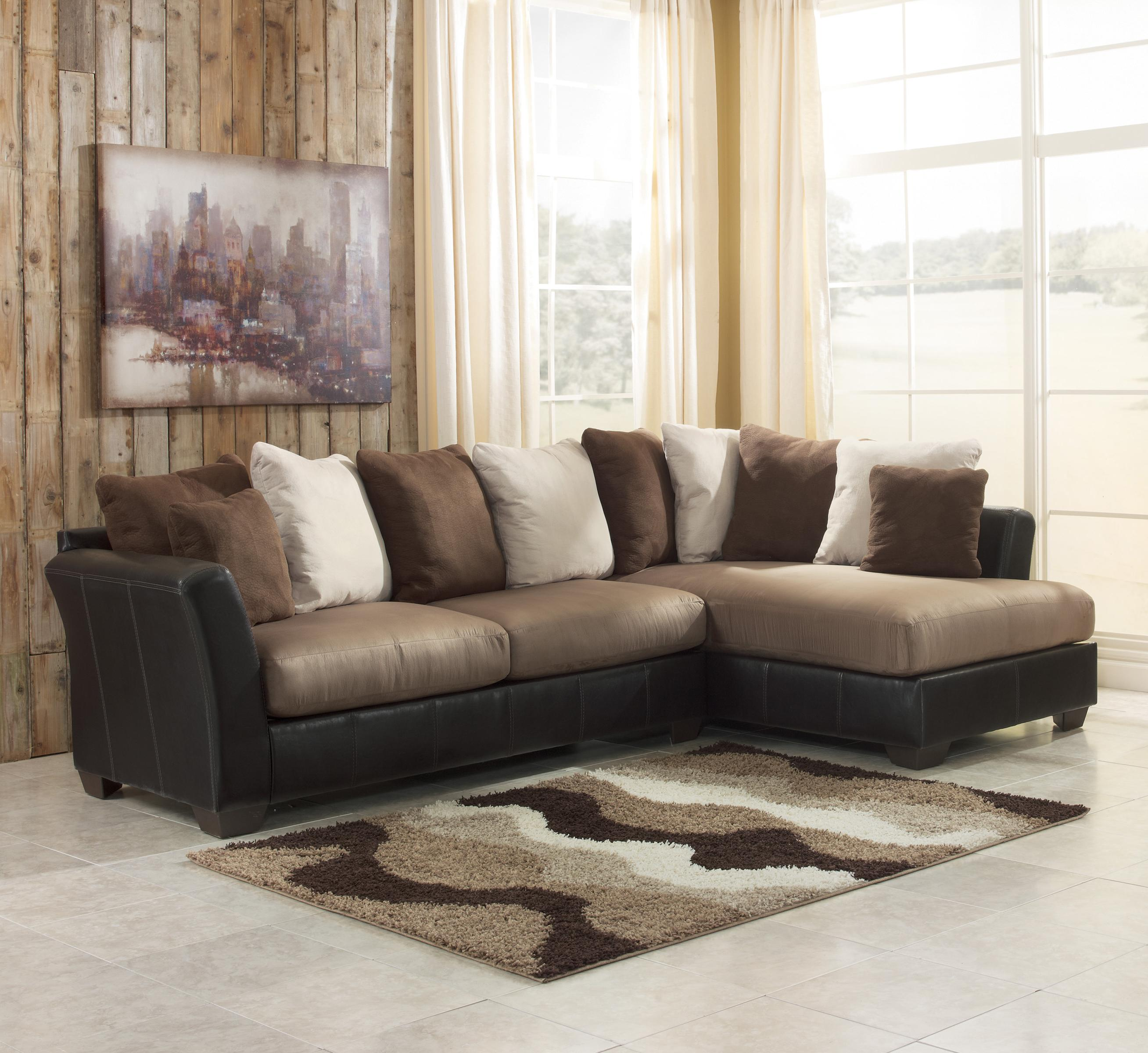 2 Piece Sectional Sofa with Chaise Design  HomesFeed