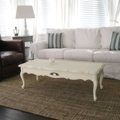 Long White Sofa Table Sectional Sofas With Drink Holders Slipcovered For Nice Living Room Homesfeed