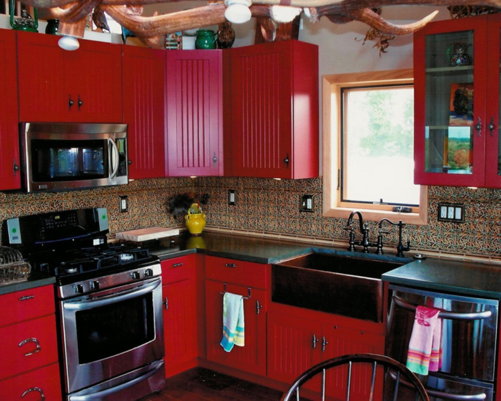 red kitchen cabinets pendant lighting fixtures black and country pictures to pin on pinterest