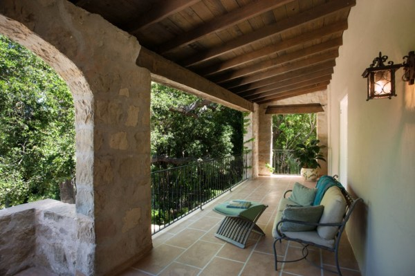 Stone Accent Balcony Shares Natural Appeal