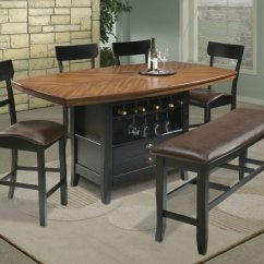 High Top Kitchen Table Set Inexpensive Countertops Options Sets To Create An Entertaining Dining Space Homesfeed Comfortable Room With In Long Shape Wine Rack And Drawers