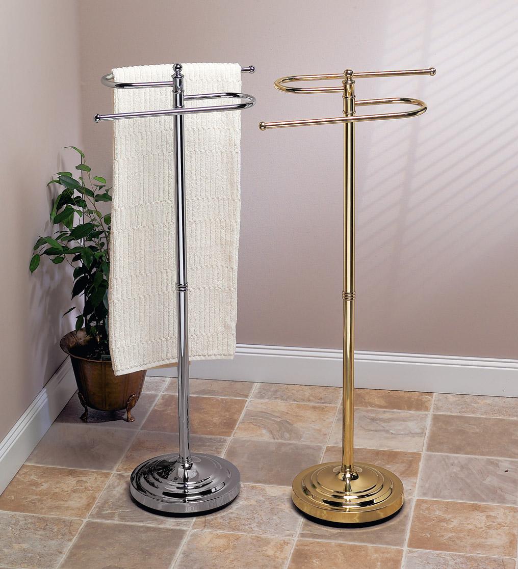 Stylish Free Standing Towel Racks For Outstanding Bathroom