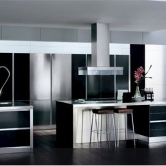Black And White Kitchen Accessories Az Cabinets Decor To Feed Exclusive Modern
