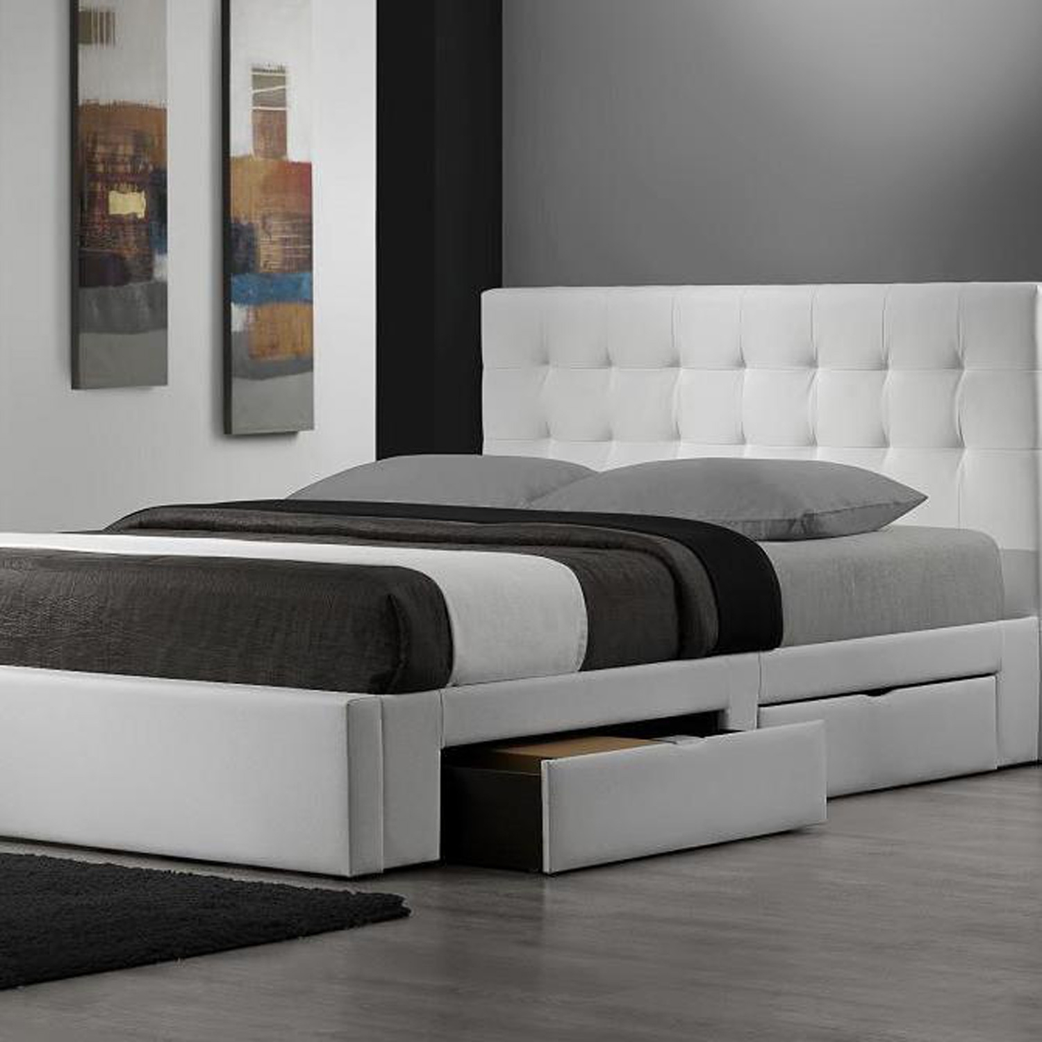 Modern King Size Bed Frames Providing a Spacious Room for Great Sleeping Experiences  HomesFeed