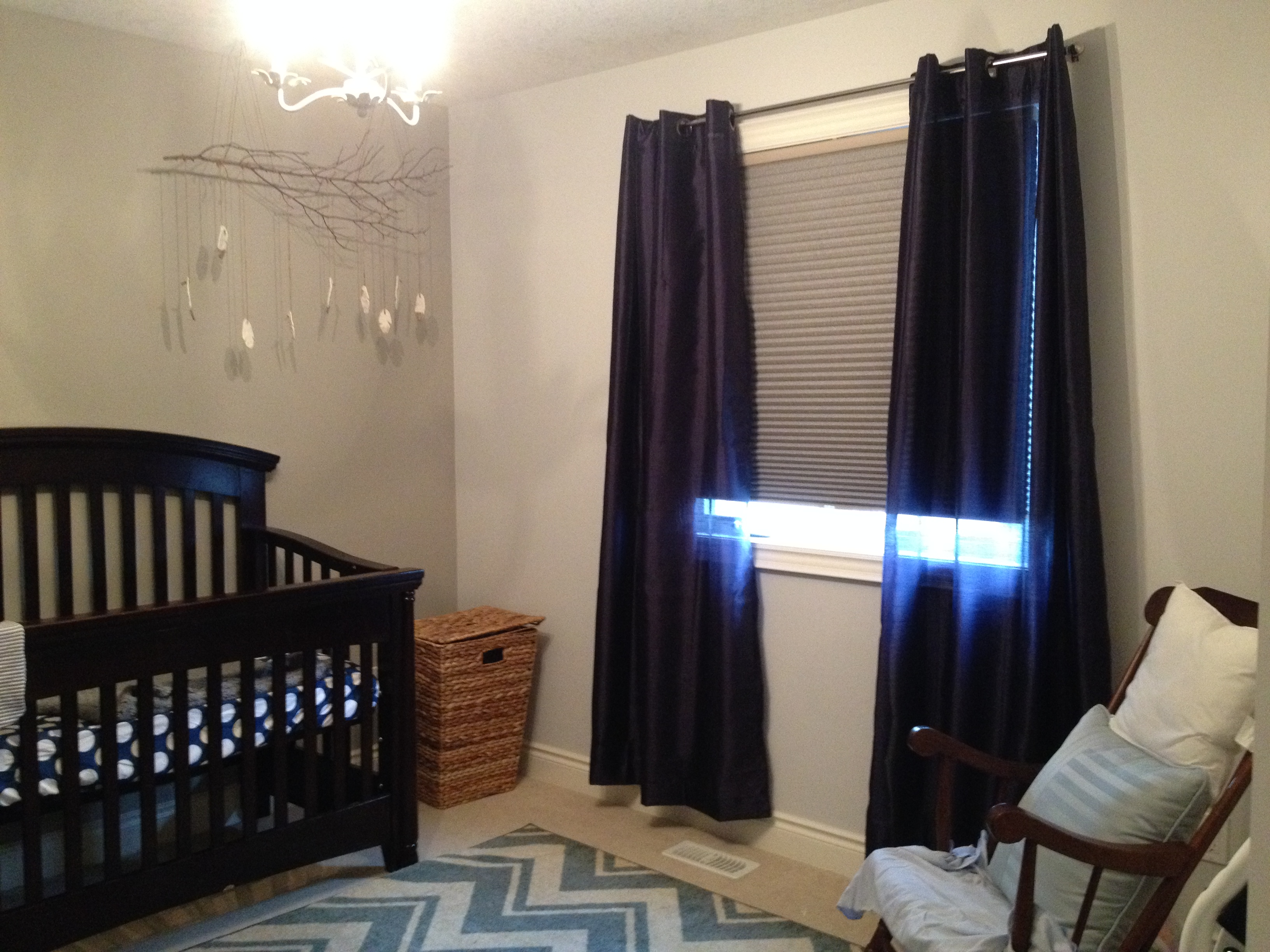 Striking Blackout Curtains for the Nursery