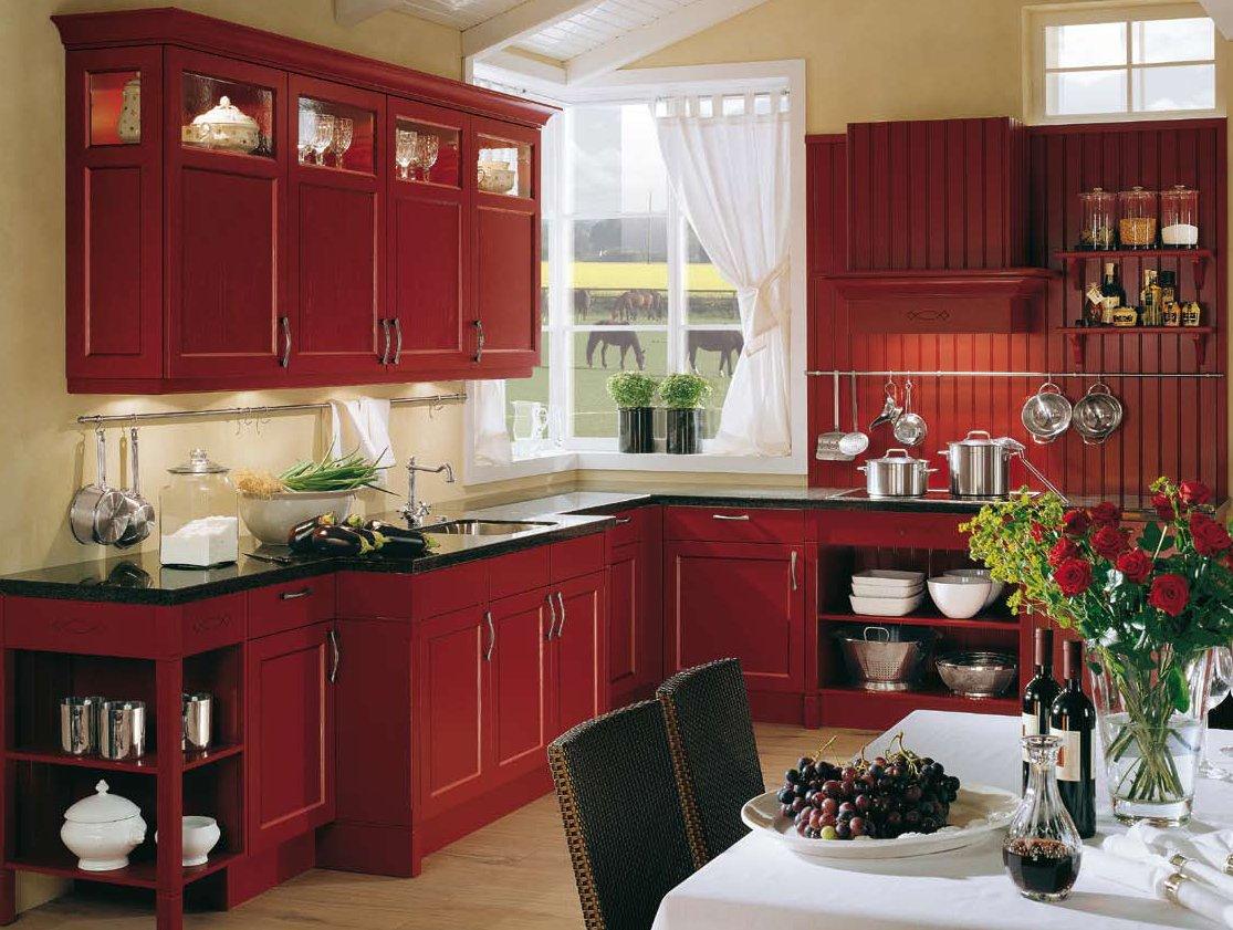 Small Kitchen Design Red And White Novocom Top