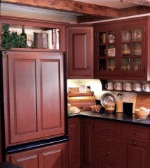 Red Country Kitchen Design Big Small