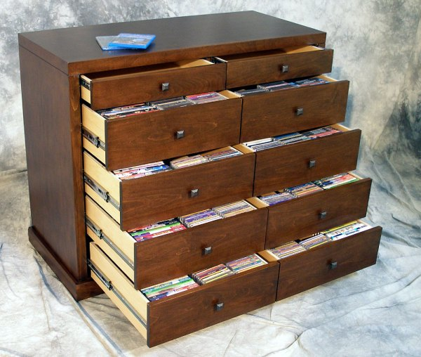 Media Storage Cabinet with Drawers