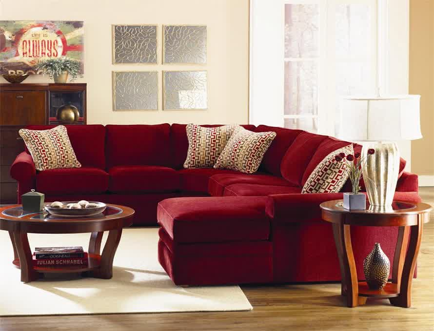 rug size for l shaped sofa catnapper nolan reclining reviews red microfiber sectionals highlight your living room ...