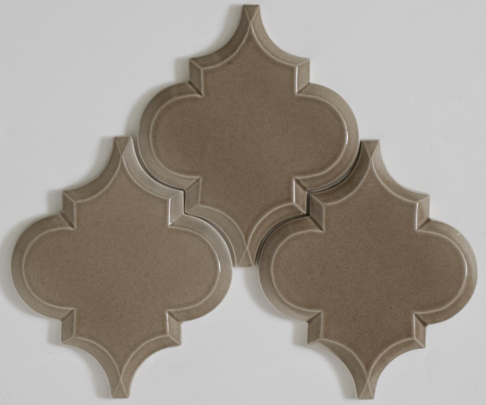beveled arabesque tile  Home Decor