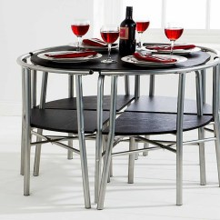 Space Saving Dining Table And Chairs Modern Rocker Chair Saver Home Decor