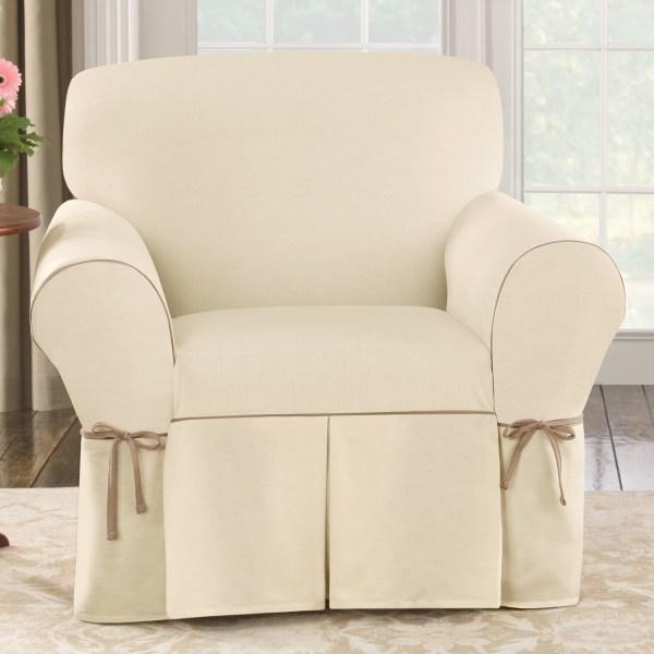 Cotton Duck Slipcover Club Chair