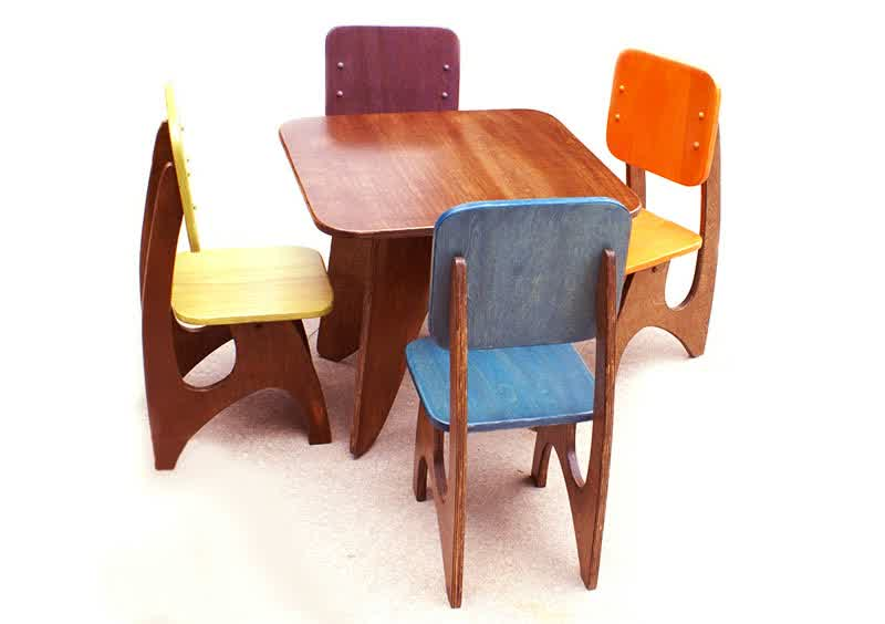 Wooden Table and Chairs for Kids  HomesFeed