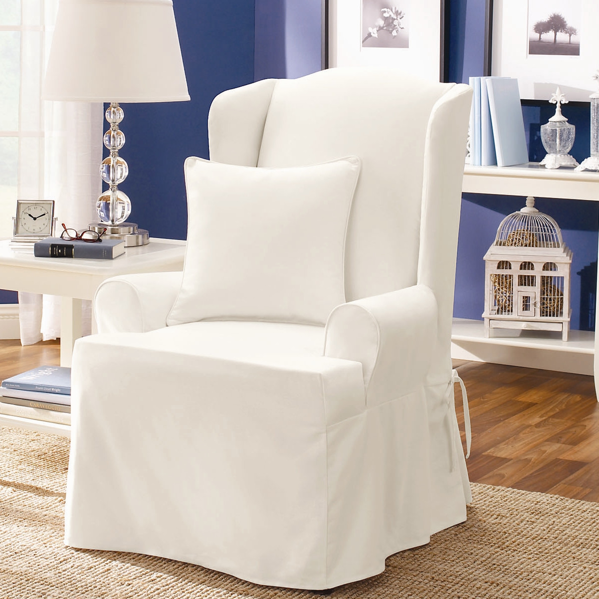 White Chair Slipcover Slipcover For Chair Homesfeed