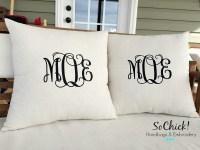 Monogrammed Throw Pillows | HomesFeed