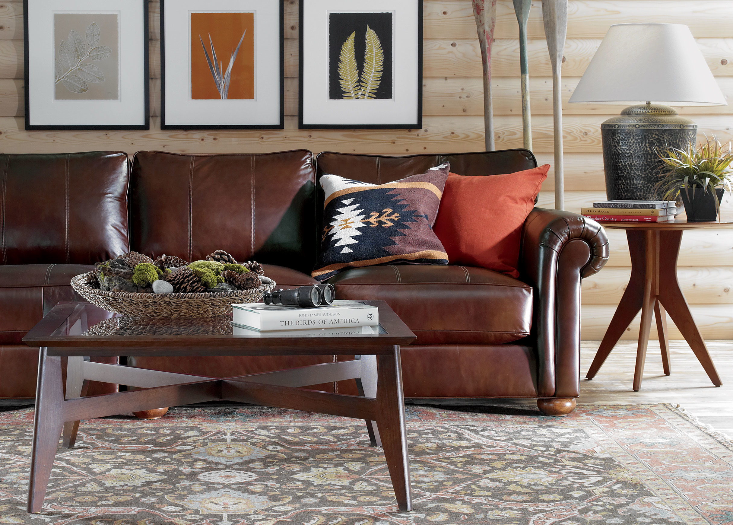 brown leather and fabric sectional sofa atalanta vs torino h2h sofascore ethan allen furniture | homesfeed