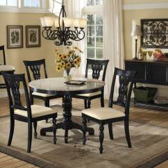 Round Marble Table And Chairs Dark Blue Chair Granite Dining Set Homesfeed