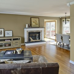Living Room Colour Schemes 2016 Small Arrangements With Tv And Fireplace Homesfeed Modern Brown Open Concept