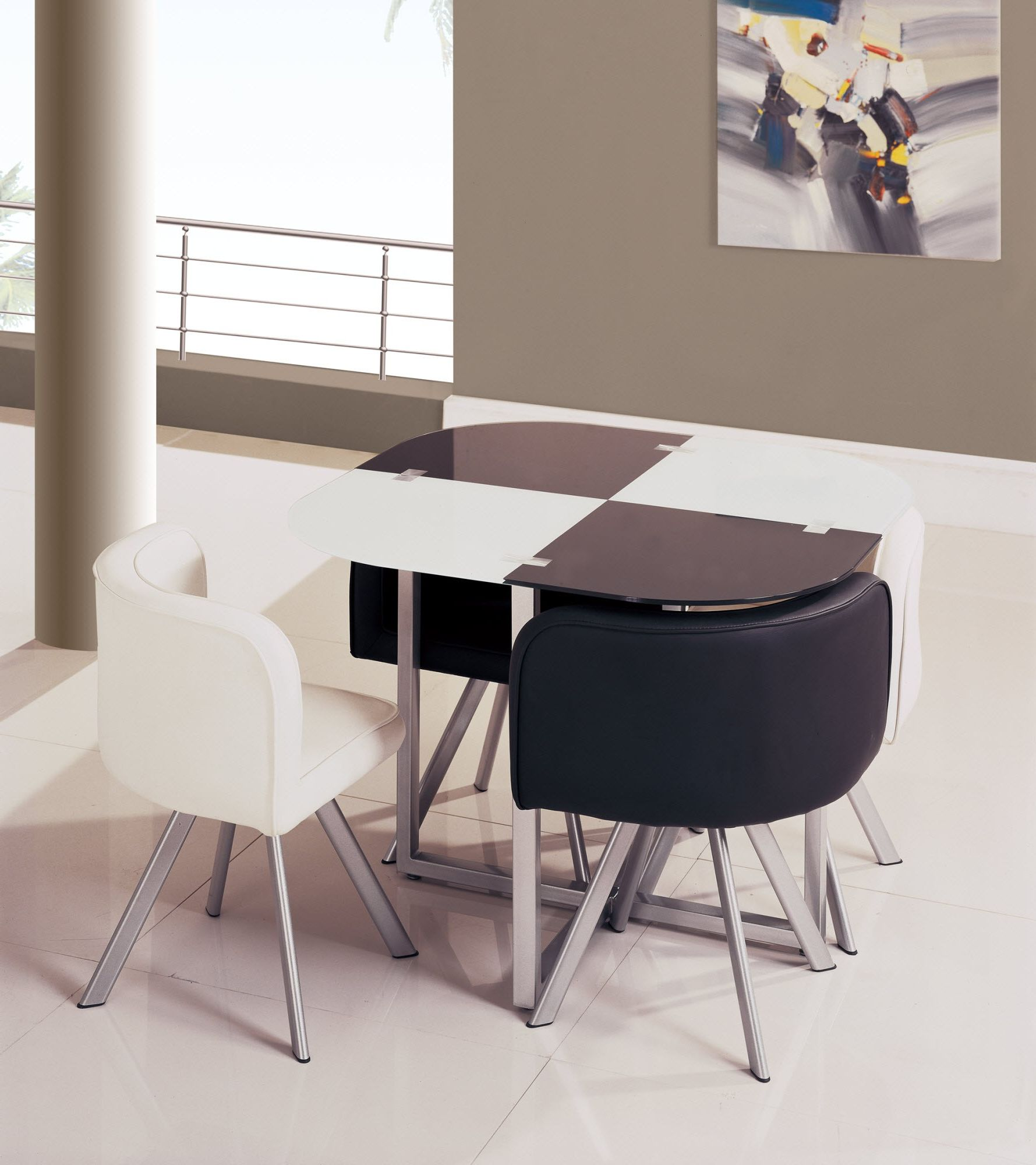 space saving dining table and chairs home goods saver set homesfeed