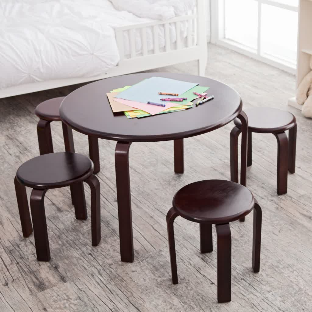 Wooden Table And Chairs Wooden Table And Chairs For Kids Homesfeed