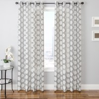 White Patterned Curtains | HomesFeed