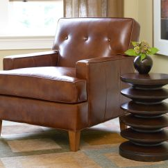 Ethan Allen Leather Chair Antique Victorian Folding Rocking Furniture Homesfeed Single With Unique Side Table