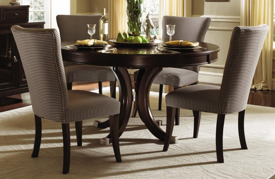 Round Dining Table Set with Leaf  HomesFeed