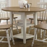 Round Dining Table Set with Leaf