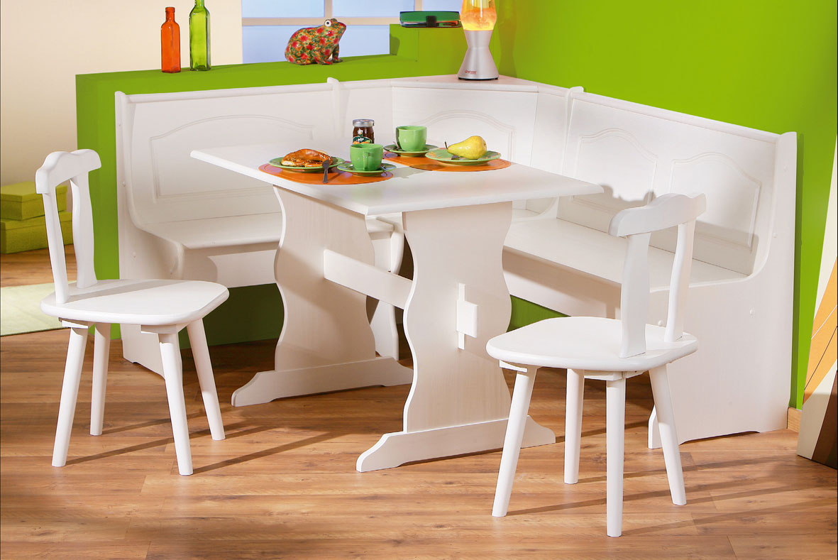 white bench for kitchen table sink soap dispenser corner set a and dining nook