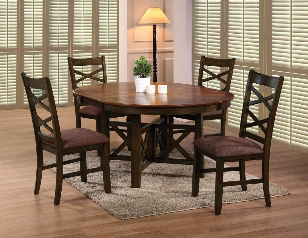 Round Table Leaf And Chairs