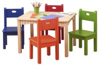 Wooden Table and Chairs for Kids | HomesFeed