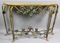 Wrought Iron Sofa Table   HomesFeed