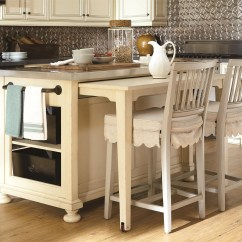 Kitchen Island And Table Small White Space Saving With Pull Out Homesfeed