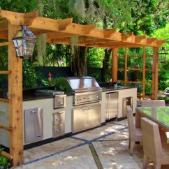 Outdoor Kitchen Plans Free Discounted Cabinets Diy Modern