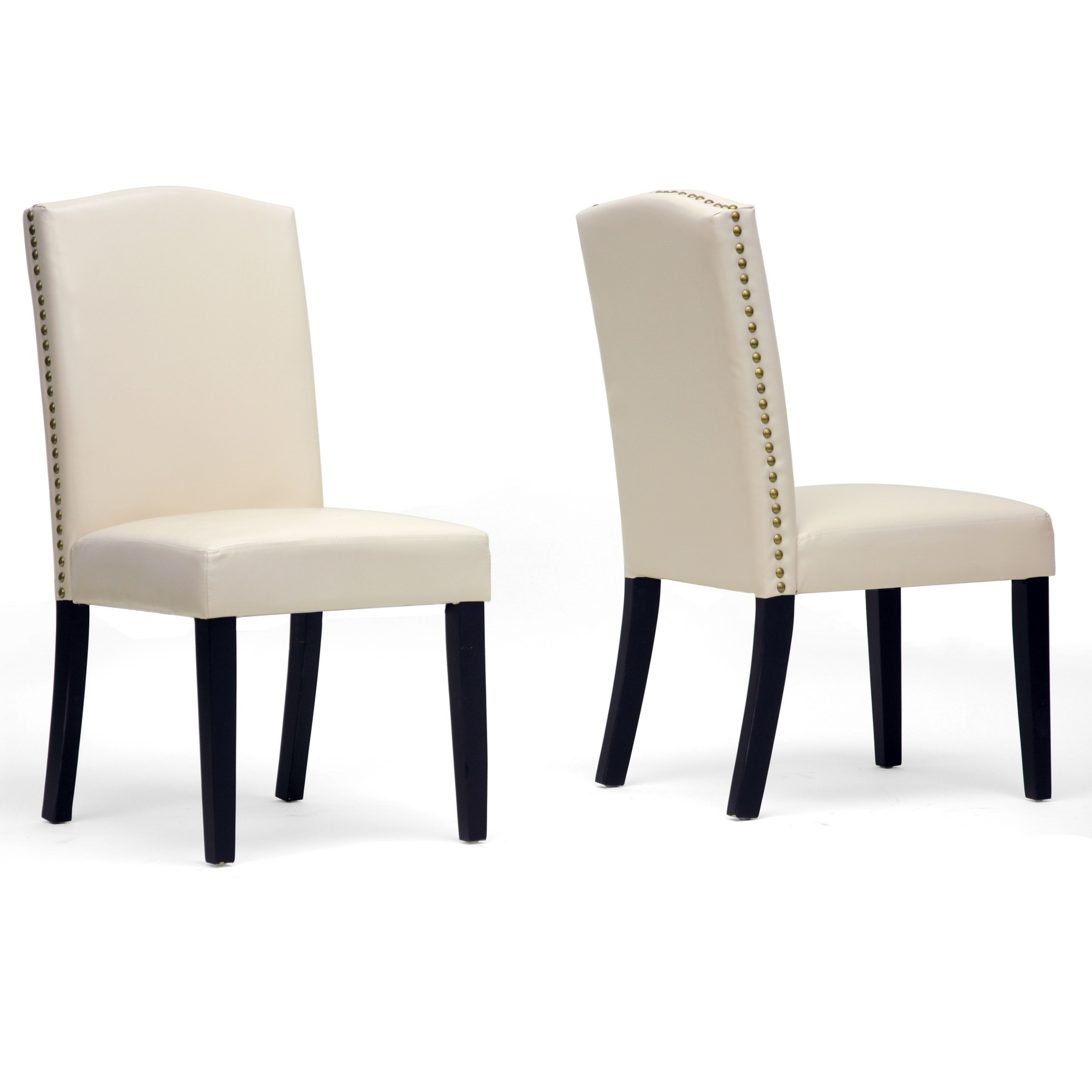 Modern White Dining Chair White Upholstered Dining Chair Displaying Infinite