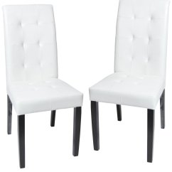 White Upholstered Chairs Three In Spanish Dining Chair Displaying Infinite