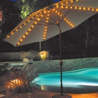 Lighted Patio Umbrella Providing an Amusing Nuance | HomesFeed