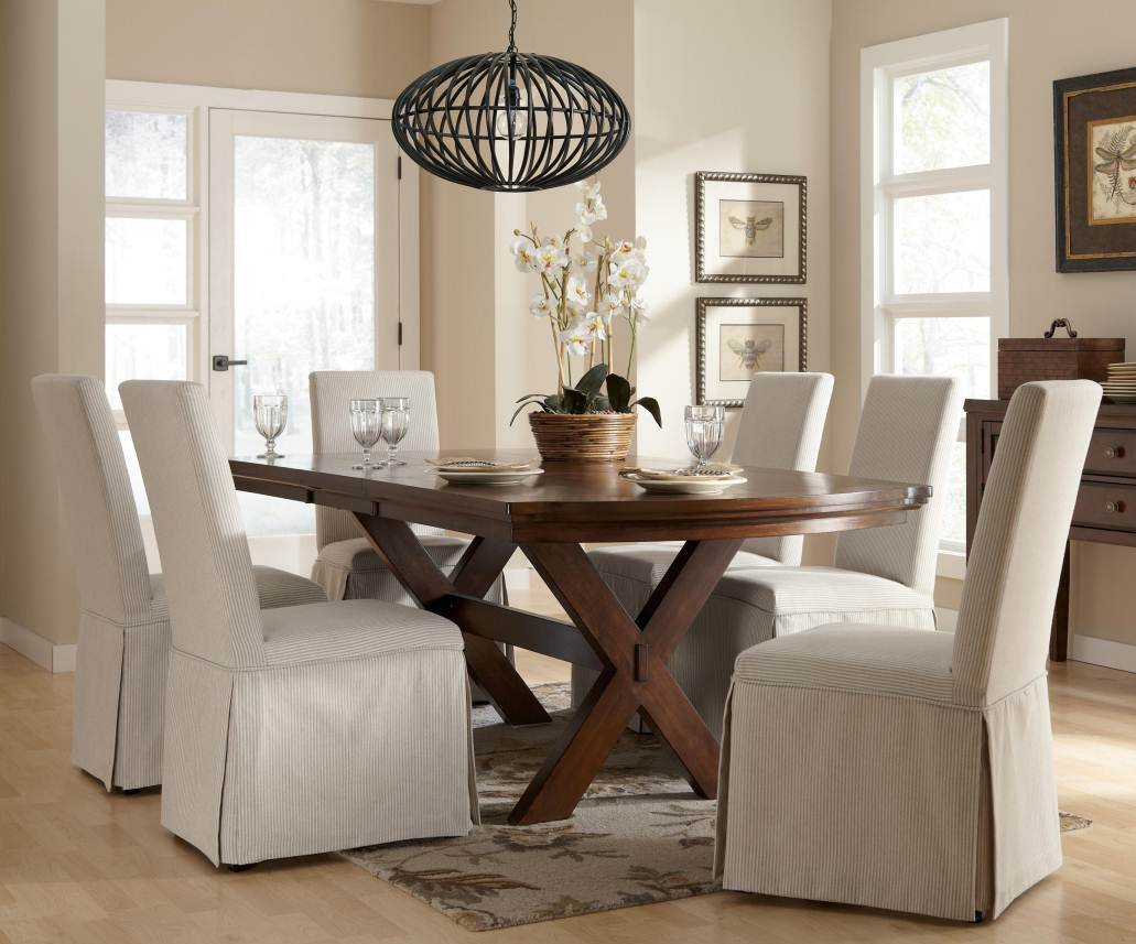 Slipcovers For Dining Room Chairs Elegant Slipcover For Dining Room Chairs Stylish Look