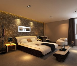 bedroom wall accent must bed bedrooms brown paper designs homesfeed modern using interior decoration curtain