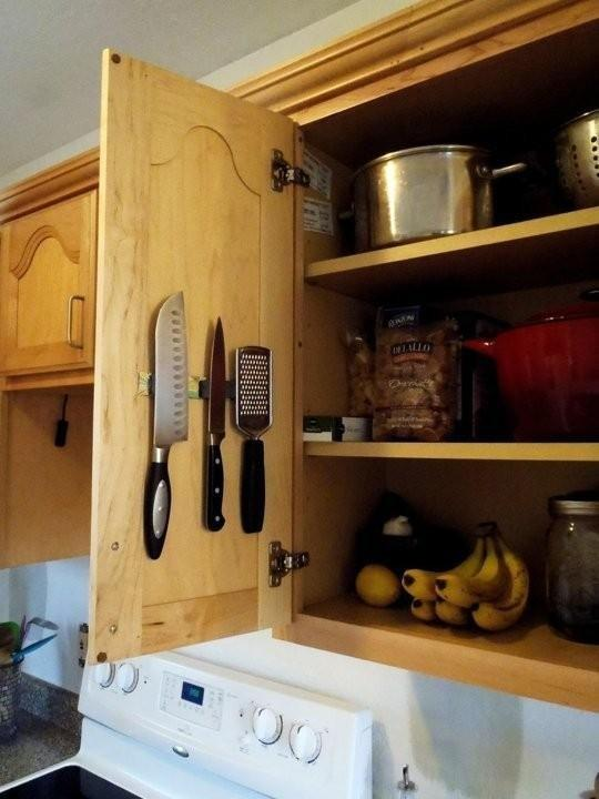 magnetic kitchen knife holder pantry organizers the advantages and disadvantages of strip for ...