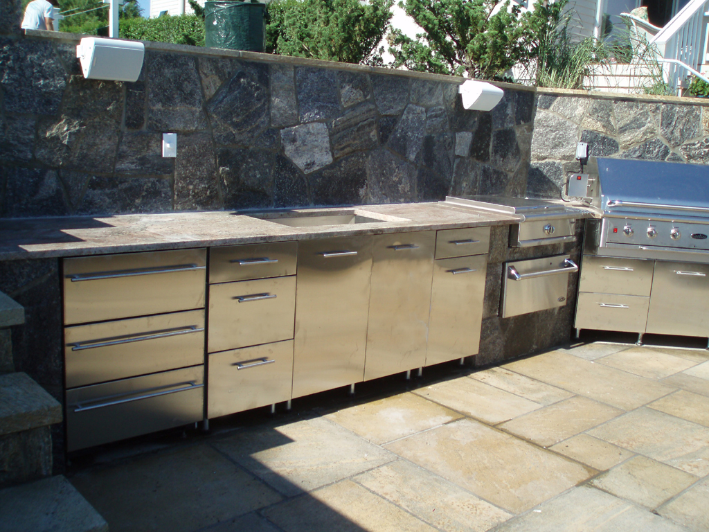 stainless steel outdoor kitchen cabinets to go layout  how welcome the christmas