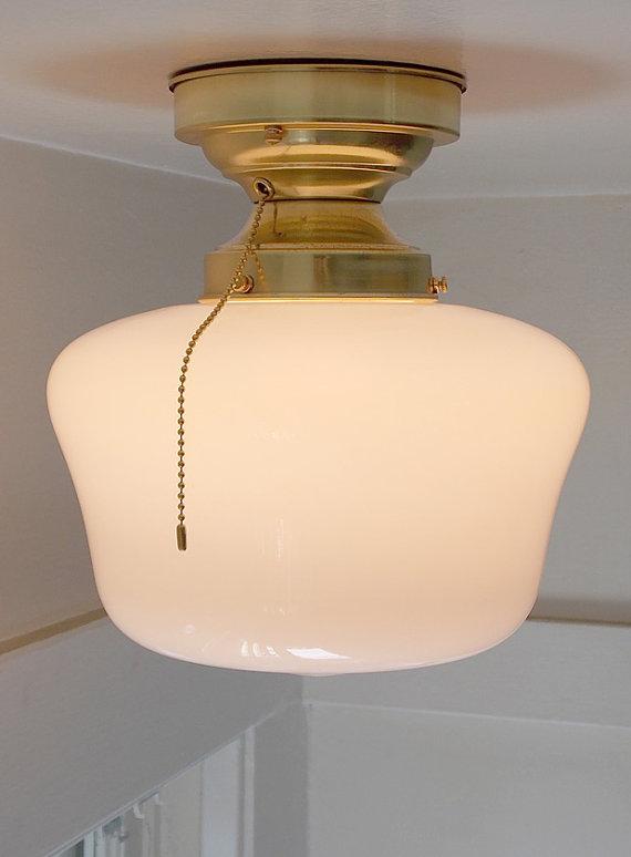 Pull Chain Ceiling Light Fixture for Interesting Illumination  HomesFeed