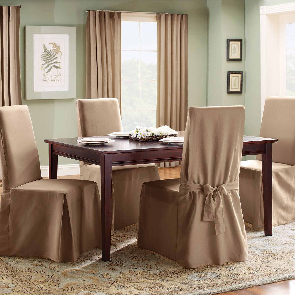 Dining Chair Slipcover Slipcovers For Dining Room Chairs That Embellish Your