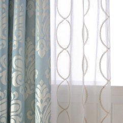 Best Drapes For Living Room Occasional Chairs Elegant White Patterned Curtains | Homesfeed
